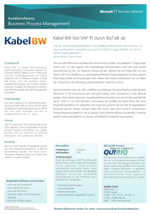 Business Process Management Kabel BW löst SAP PI durch BizTalk