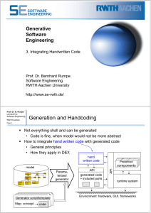 Generation and Handcoding