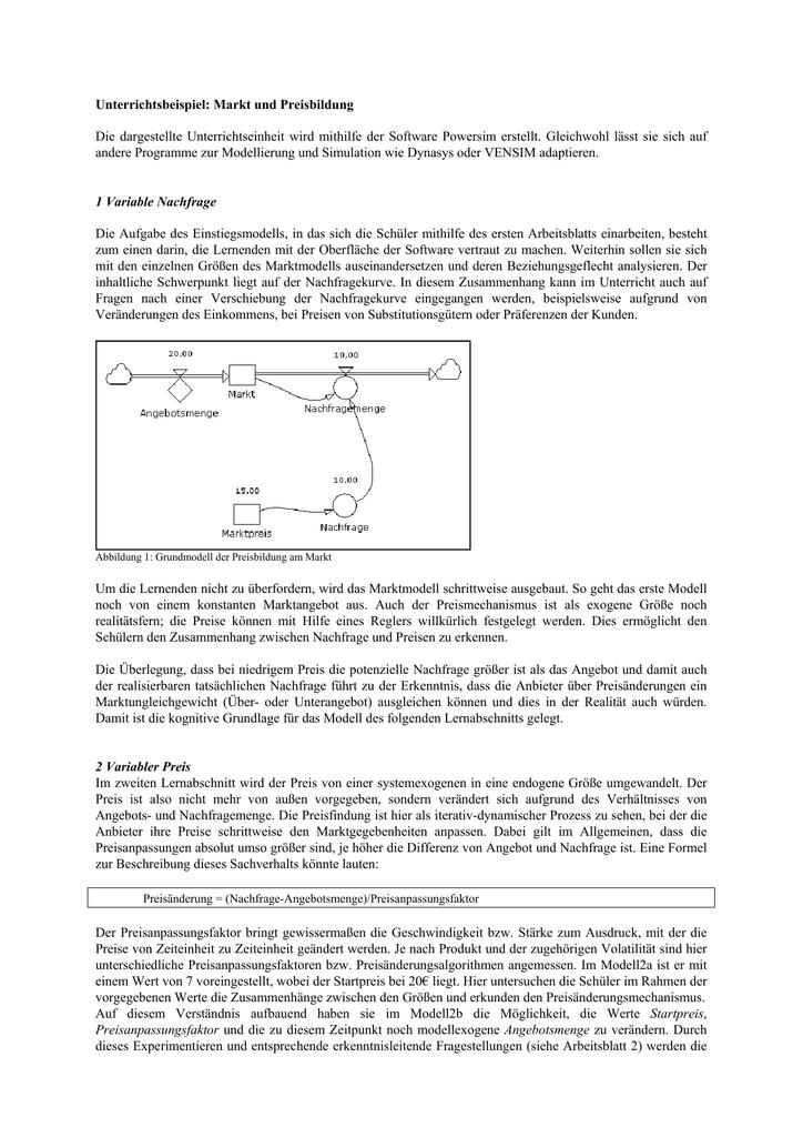 Gemütlich Angebot Und Nachfrage Arbeitsblatt Galerie - Mathe ...