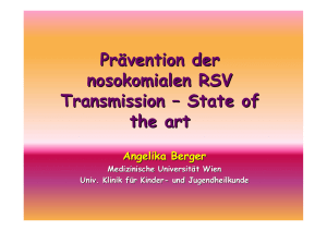 Prävention der nosokomialen RSV Transmission – State of the art