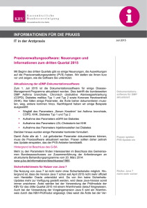 Praxisinformation der KBV