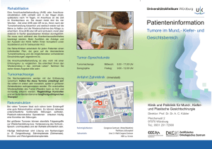 Flyer Patienteninformation Tumore im Mund
