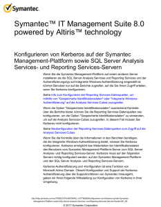 Symantec™ IT Management Suite 8.0 powered by Altiris™ technology