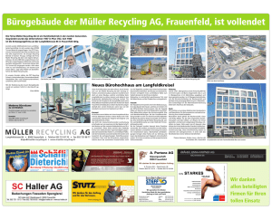 Baureportage - Müller Recycling AG