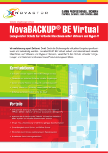 NovaBACKUP® BE Virtual