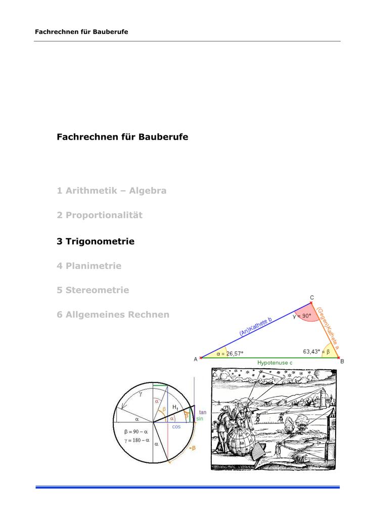 trigonometrie am allgemeinen dreieck