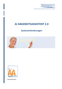 ai angebotsassistent 2.0 - Administration Intelligence AG