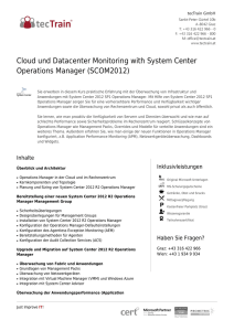 Cloud und Datacenter Monitoring with System Center Operations