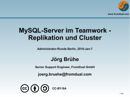 MySQL-Server im Teamwork - Replikation und Cluster