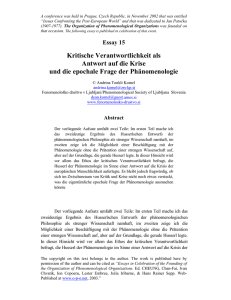 andrina tonkli komel - organization of phenomenological organizations