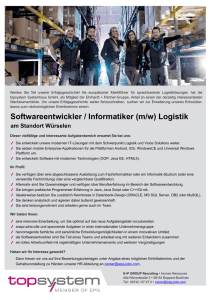 Softwareentwickler / Informatiker (m/w) Logistik