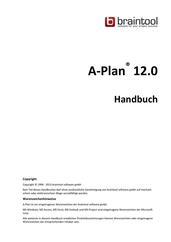 Handbuch A-Plan 12.0