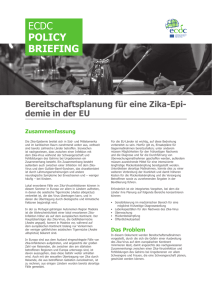 ECDC POLICY BRIEFING