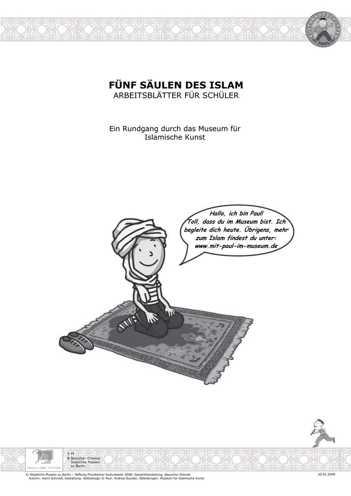 Fünf Säulen des Islam. Arbeitsblätter für Schüler