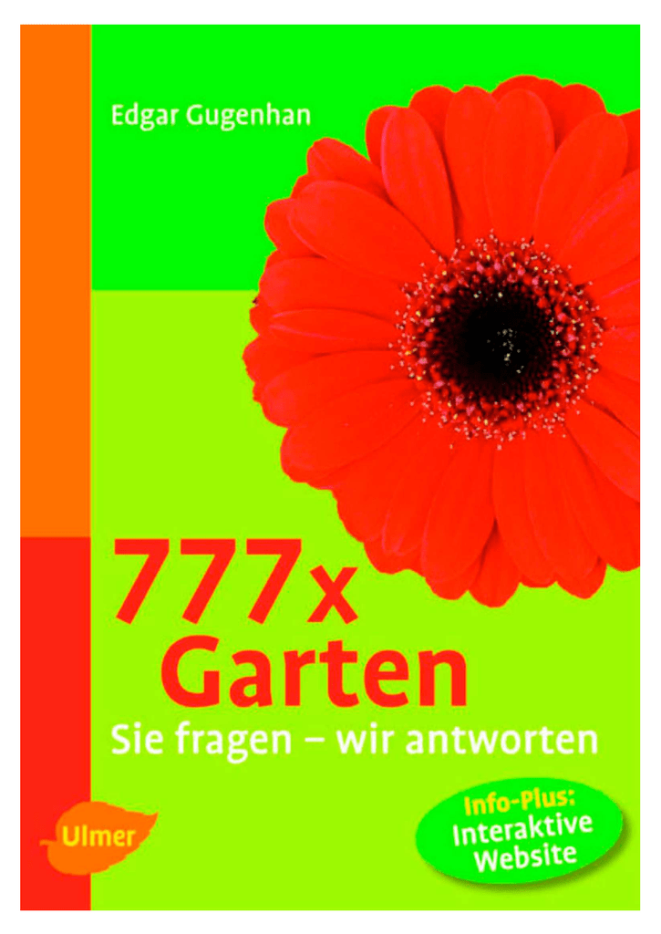 777 Garten-Fragen - Der BRD