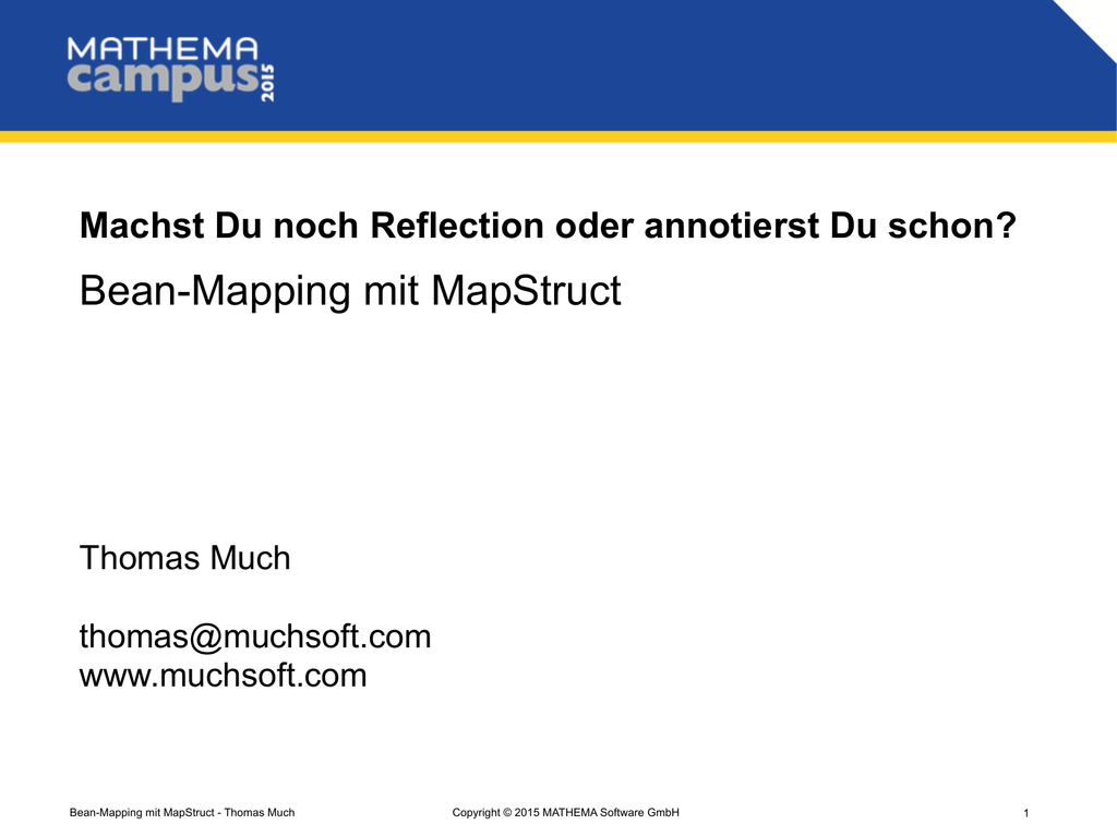 Bean-Mapping mit MapStruct on