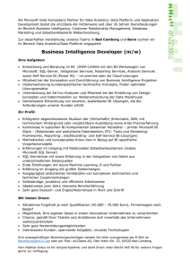 Business Intelligence Developer (m/w)