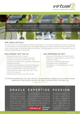 consultant – business intelligence und data