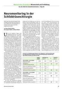 Neuromonitoring in der Schilddrüsenchirurgie