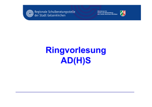 Ringvorlesung AD(H)S