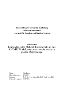 Text - PVS: Parallel and Distributed Systems Group at Heidelberg