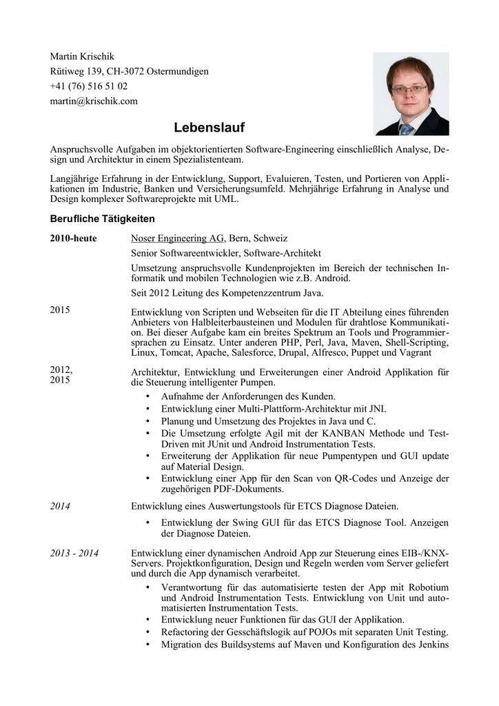 Charmant Software Projektmanager Lebenslauf Pdf Ideen - Entry Level ...
