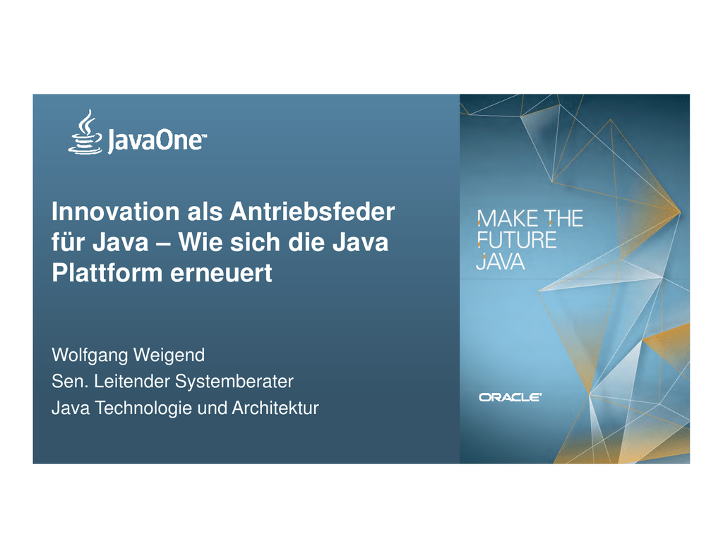 Microsoft PowerPoint - Innovation als Antriebsfeder f\374r Java