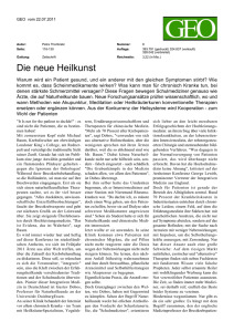 Die neue Heilkunst - European Congress for Integrative Medicine