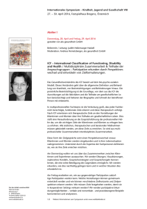 Atelier I ICF – International Classification of Functioning, Disability