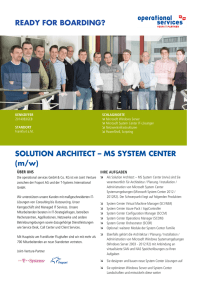 SOLUTION ARCHITECT – MS SYSTEM CENTER