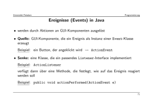 Ereignisse (Events) in Java
