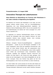 Innovative Therapie bei Lebertumoren