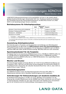 Systemanforderungen ADNOVA - LAND-DATA