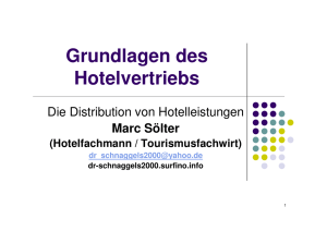 Distributionspolitik in der Hotellerie