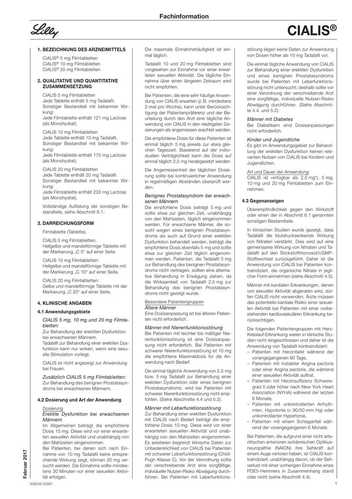 tadalafil benignes prostatasyndrom