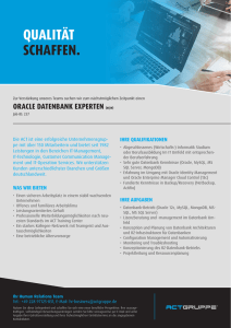 Oracle Datenbank Experte (m/w)