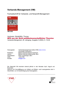 Verbands-Management (VM)