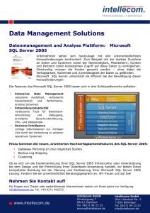 Steckbrief DataManagement