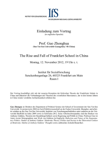 The Rise and Fall of Frankfurt School in China