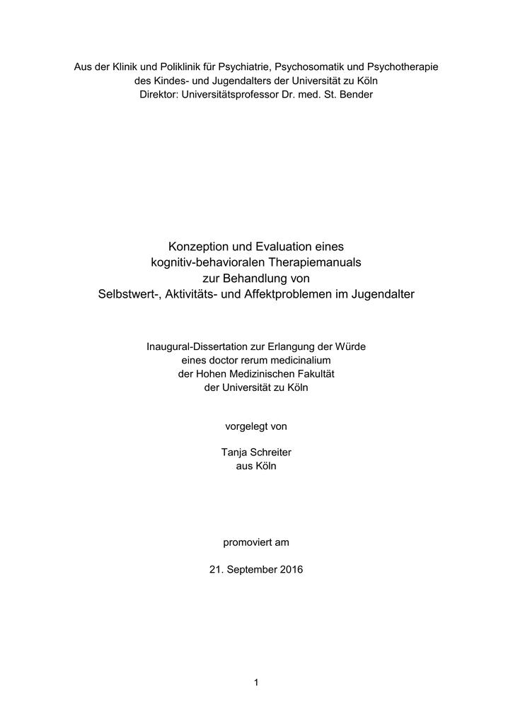 Dissertation - AKiP Köln
