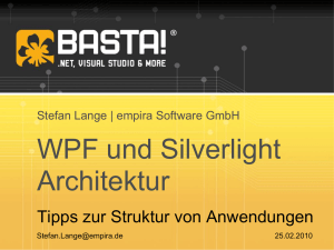 WPF und Silverlight Architektur