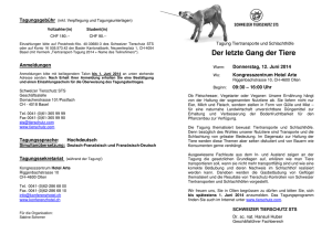 PROGRAMM Tiertransport-Tagung - Ethik