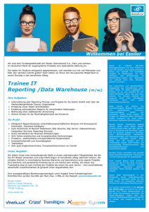 Trainee IT Reporting /Data Warehouse (m/w)
