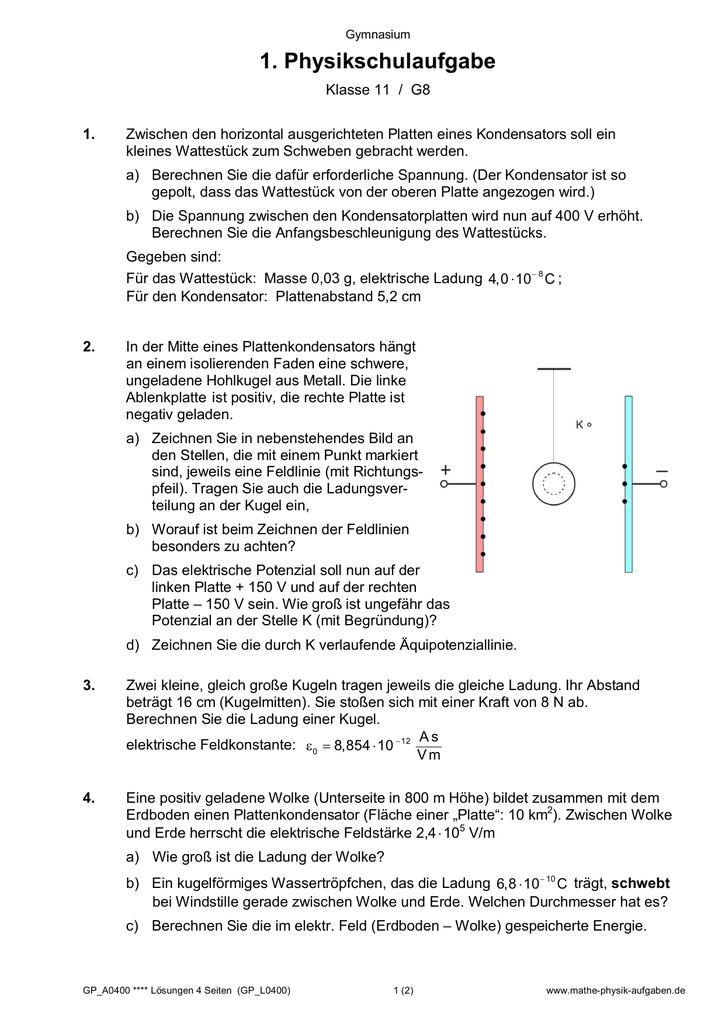 alle 1. Schulaufgaben Klasse 11 - Mathe