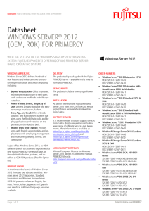 FUJITSU Windows Server 2012 OEM / ROK for