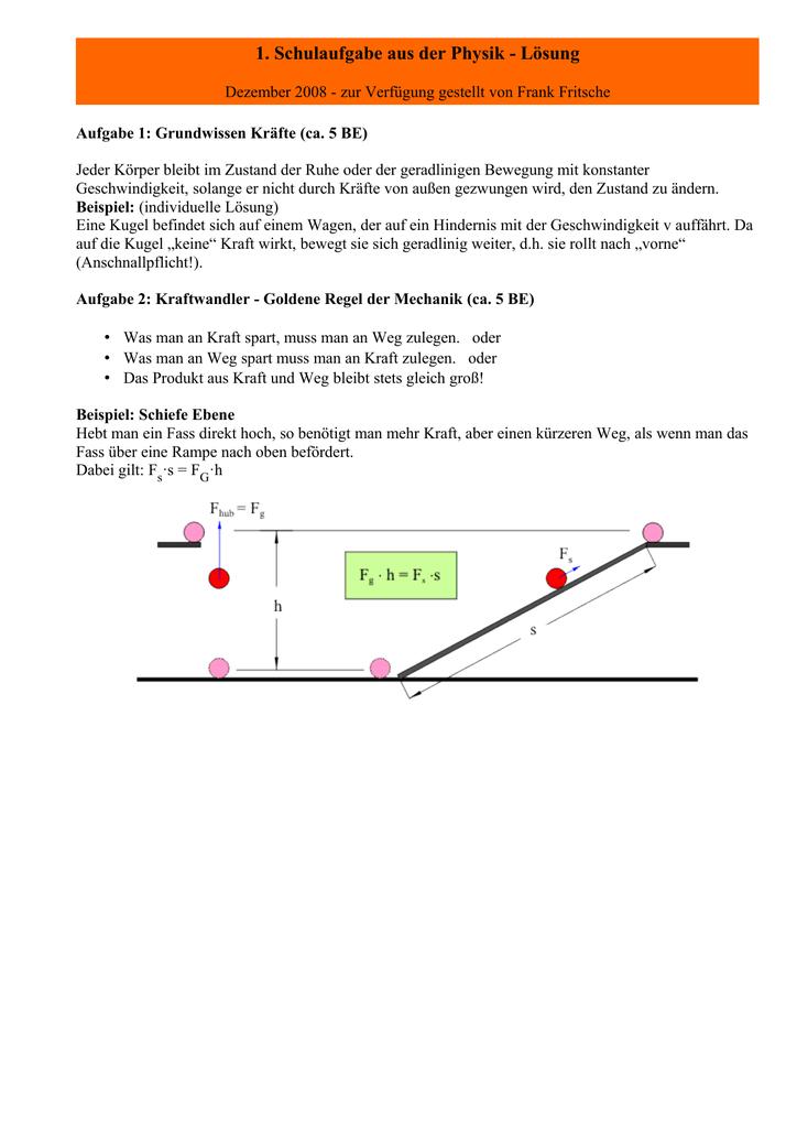 Lösung - LEIFI Physik