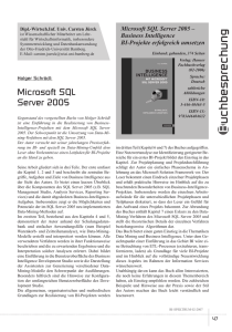 Holger Schrödl: Business Intelligence mit Microsoft SQL Server 2005