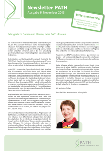 6. Newsletter - Stiftung PATH