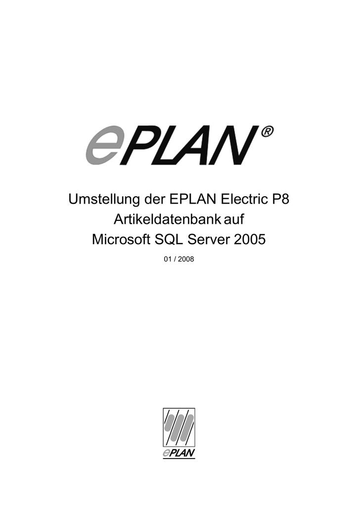 Umstellung der EPLAN Electric P8 Artikeldatenbankauf Microsoft