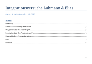 Integrationsversuche Luhmann-Elias